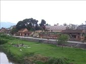 Old Patan city buildings from river between Kathmandu and Patan: by over-40, Views[1200]