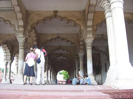 The hall of public audiences in Agra Fort