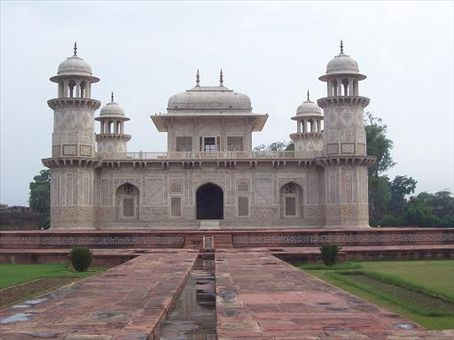 Itimad-Ud-Daulah (baby Taj). This mausoleum is the precursor to it's bigger and later cousin.