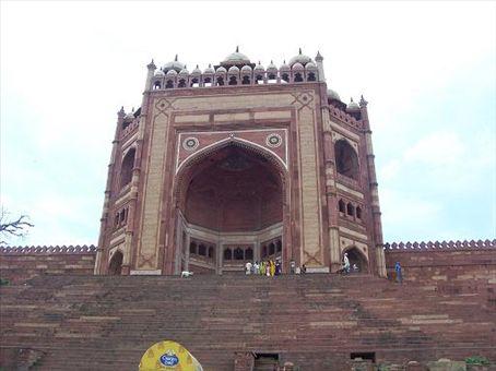 Victory Gate at the Jama Masjid at Fatehpur Sikri