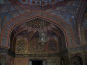 Gold leafing on the roof in Akbar's Tomb.: by over-40, Views[611]