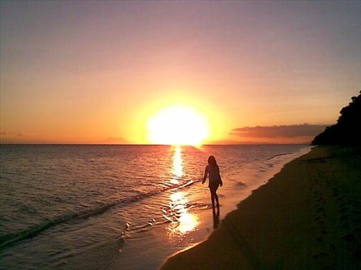 sunset at mamangal beach, catanduanes,philippines