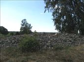 A very old burial mound, covered with stones c3,000BC.  Near Kumla.: by ozweaver, Views[271]