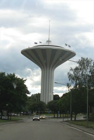 Swampen, Orebro's water tower, but also an observation tower and it's logo.