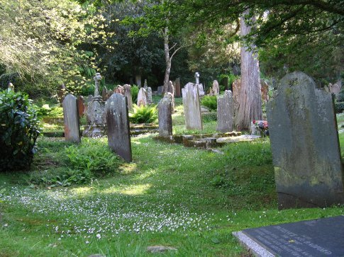 Gorgeous cemetery at the St. Just church in Roseland, Cornwall.