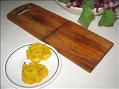 Patacones, twice fried plantains: by palaver_maven, Views[265]