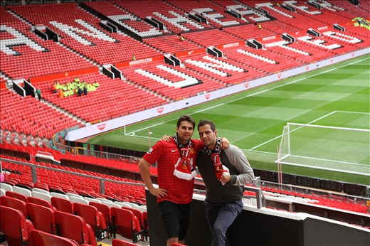 The friend's dream comes true when we were on the Old Trafford in England .He  promised that Manchester United win the game...MU didnt...