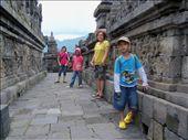 A nice corridor filled with ancient ornaments at the Borobudur Temple, Magelang: by panakuan, Views[132]