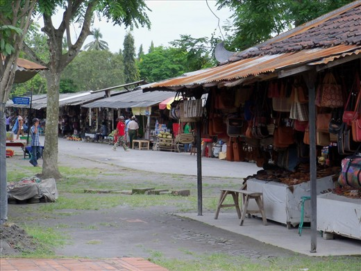 Traditional souvenir market just outside of the Borobudur Temple, Magelang