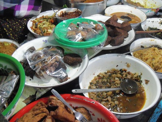 Traditional food sold by vendors on the outskirts of town Magelang