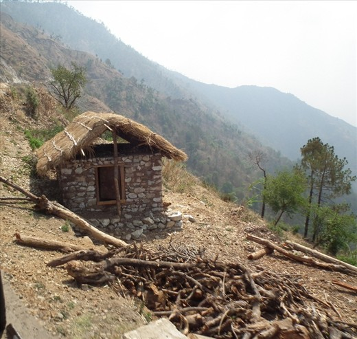 A home in nepal. where live poor people