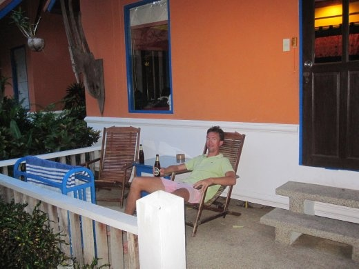 Our second hotel in Samui - chillaxing with a beer
