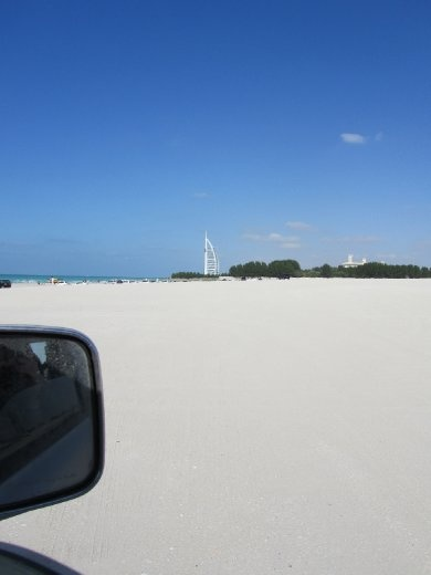 We were actually driving on the beach!