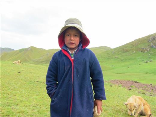 Face2face hiking Peru's antiplano.