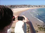 Getting a bit arty here.  This is a picture of Ellie taking a picture of Bondhi beach.: by paul_byrom, Views[135]
