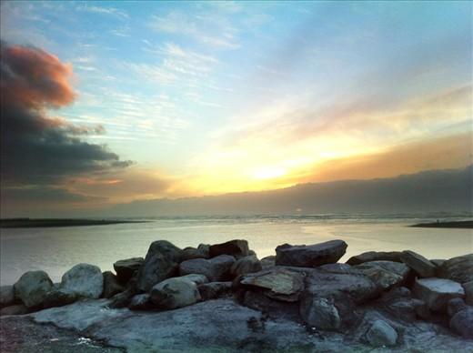 Sunset in Hokitika