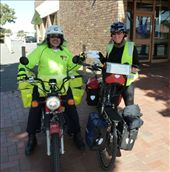 Me and the Goolwa Postie: by pauline, Views[88]