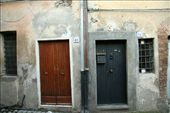Our apartment door (the black one) - Bracciano: by paulinep, Views[170]