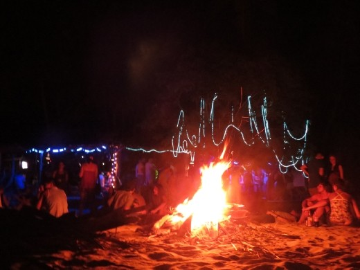 Easter sunday bonfire party