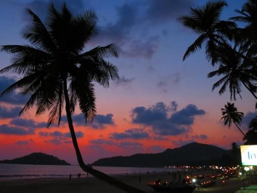 Another lovely Goan sunset!