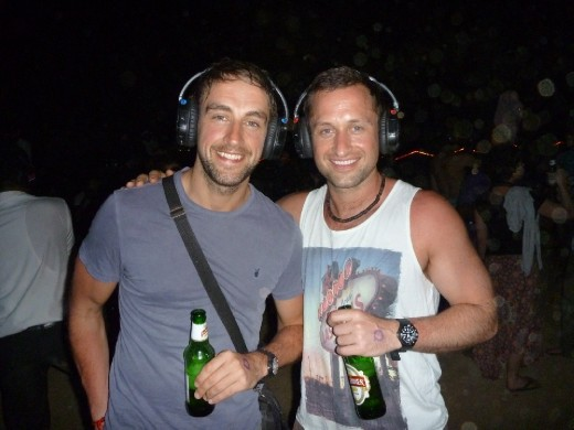 Bro's at the silent disco!