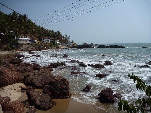 Smaller beach in arambol