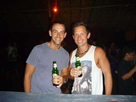 Trance party in the beach cafe