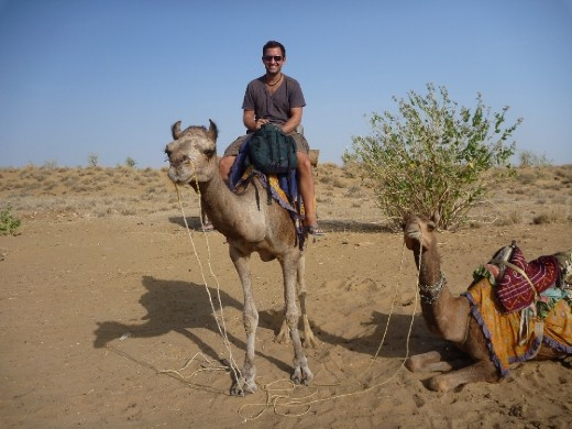 Me and my camel, such a pleasure to ride