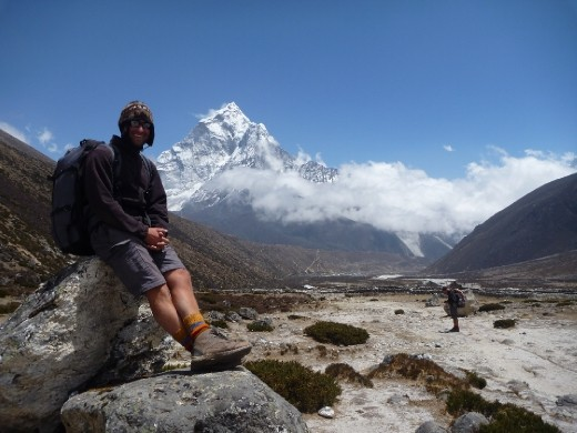 On the way back to Periche ... Mt Ama Dablam in background