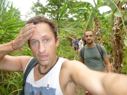 Trekking in the humidity is hard!