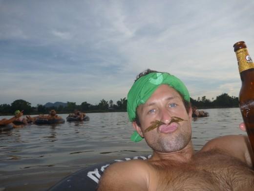 Tubing on the Mekong
