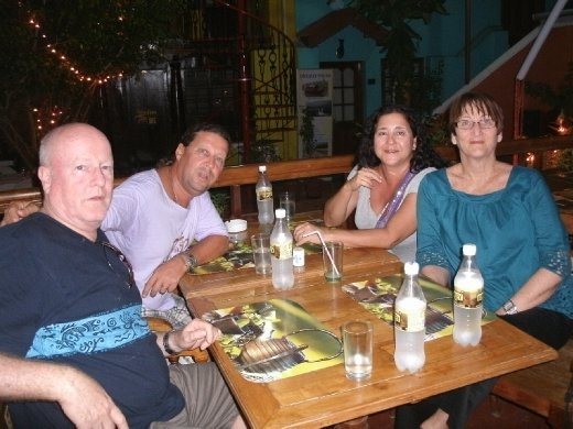 Dinner with Pete and Jen in Fort Kochin