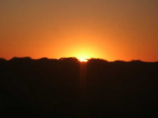 Sunset over the Nullabor
