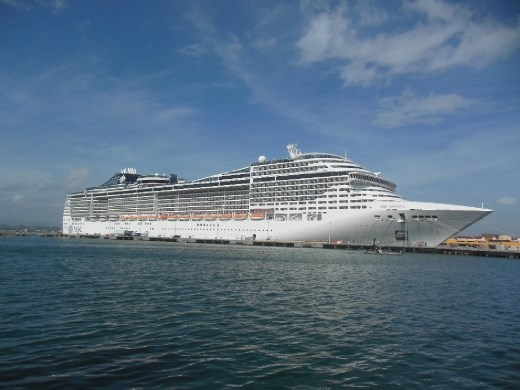Our ship - the MSC Divina