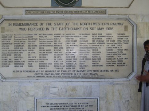 Memorial in the train station
