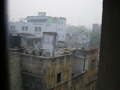 View from hotel. Never seen pollution at ground level before.