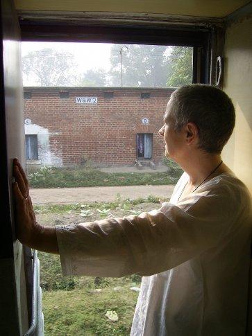Me at the door of train