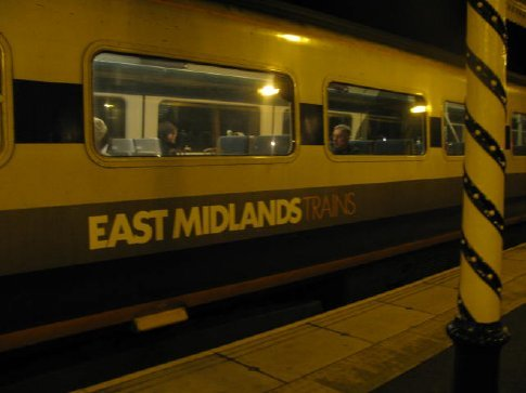 English train to Chesterfield