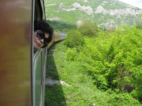 Glorıa checkıng out the bushes