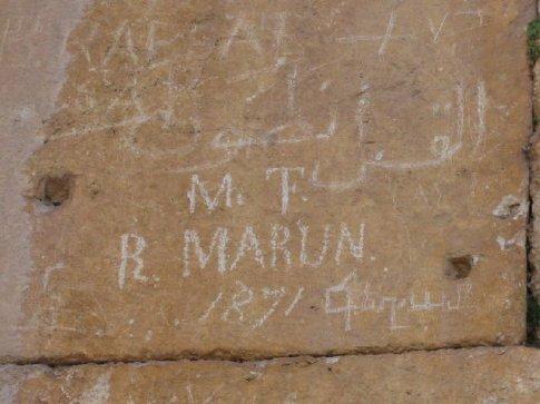 19th C graffitto