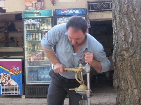 Coffee man juicing