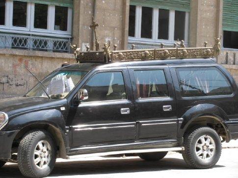 Marronite hearse - wow!