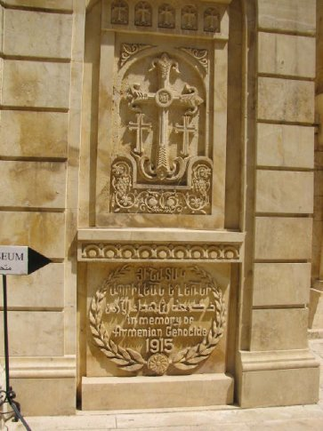 Armenian church of 40 martyrs - relief re genocide 1915