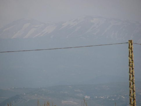 Mountains as we approach Lebanon