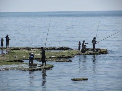fishing off the corniche
