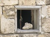 Nice window pic - a stone put here to get air: by pecosbiff, Views[218]