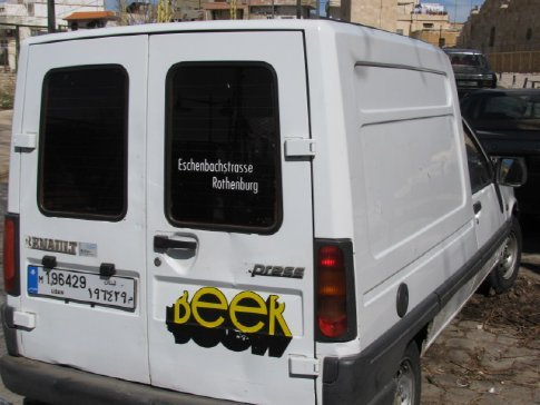The mystery of the omnipresent German white vans...