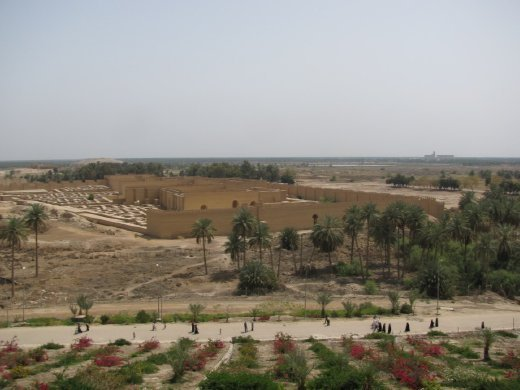Babylon from palace on the hill