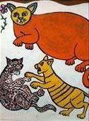 Street art in Jogja.....yes I miss my Rasta Cat!!: by pedroandbridget, Views[143]