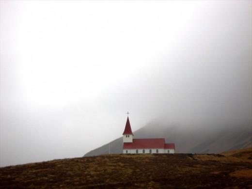 Fogbound morning in Viik (Iceland)